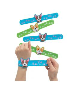 Dog Slap Bracelets with Charm