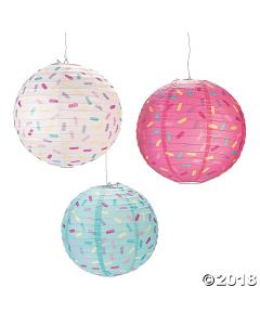 Donut Party Hanging Paper Lanterns
