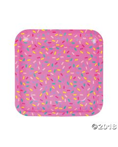 Donut Party Square Paper Lunch Plate
