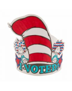 Dr. Seuss™ Color Your Own I Voted Crowns