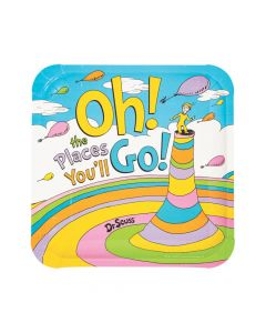 Dr. Seuss™ Oh, the Places You'll Go Paper Dinner Plates - 8 Ct.