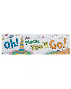 Dr. Seuss Oh the Places You'll Go Vinyl Banner