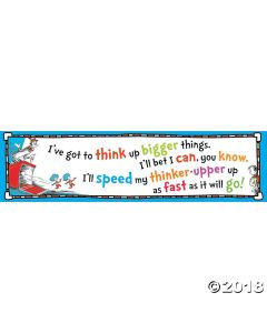 DR. Seuss Think up Bigger Things Banner