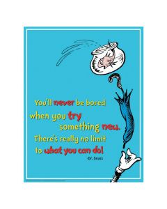 Dr. Seuss Try Something New Poster