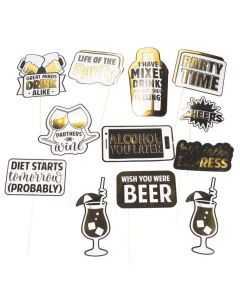 Drinking Party Photo Stick Props