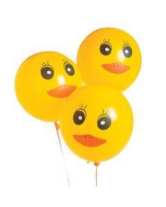 "Duck Printed 11"" Latex Balloons"