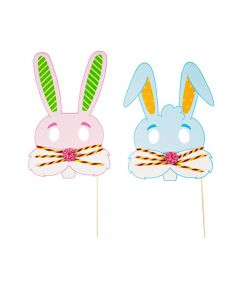 Easter Bunny Mask Photo Stick Prop Craft Kit