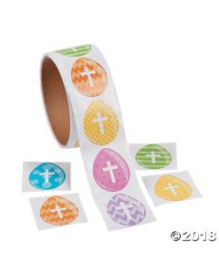 Easter Egg Cross Stickers