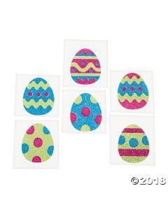 Easter Egg Glitter Tattoo Stickers