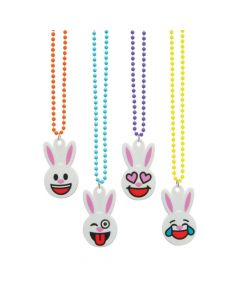 Easter Emoji Beaded Necklaces