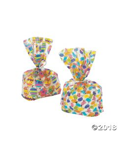 Easter Print Goody Cellophane Bags