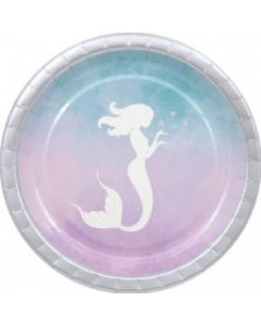 Elegant Mermaid Paper Plates Large