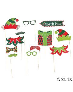 Elf Photo Photo Stick Props