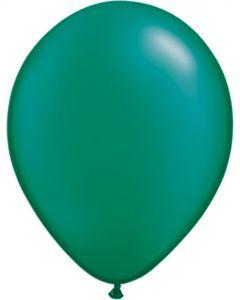 Emerald 12cm Pearl Plain Round Latex Balloon