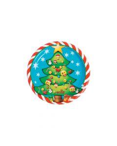Emoji Christmas Dessert Plates