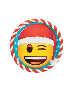 Emoji Christmas Paper Dinner Plates