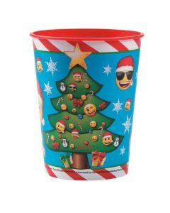 Emoji Christmas Plastic Tumbler