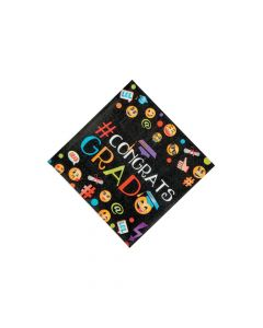 Emoji Graduation Party Beverage Napkins