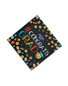 Emoji Graduation Party Luncheon Napkins