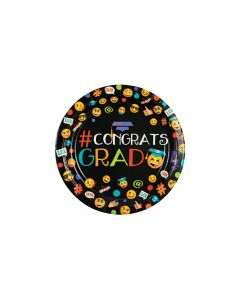Emoji Graduation Party Paper Dessert Plates