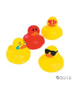 Emoji Mini Rubber Duckies