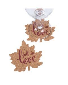Fall Wedding Leaf Cork Coasters