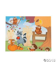 Fall Woodland Owl Sticker Scenes