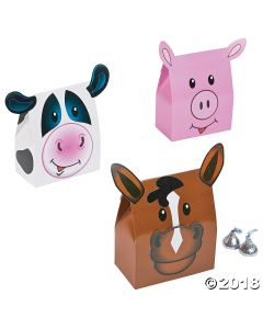 Farm Animal Party Favour Boxes