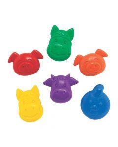 Farm Animal-Shaped Crayons