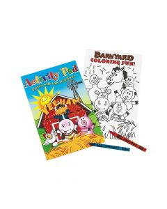 Farm Animals Activity Pads with 2-Pack Crayons