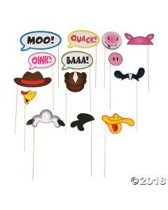 Farm Party Photo Stick Props