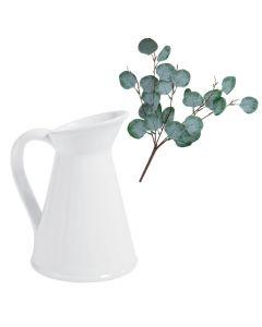 Farmhouse Faux Eucalyptus Stems with Vase
