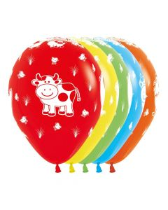 Farms Friends Assorted Fashion Solid Balloons 30cm