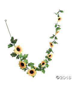 Faux Sunflower Greenery Garland