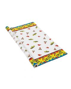 Fiesta Banquet Plastic Tablecloth Roll