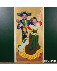 Fiesta Couple Vinyl Photo Door Banner