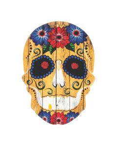 Fiesta Day of the Dead Skull Door Sign