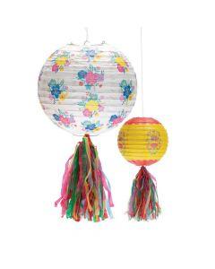 Fiesta Floral Bright Hanging Paper Lanterns