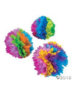 Fiesta Flower Tissue Centerpieces