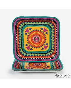 Fiesta Paper Lunch Plates