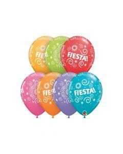 "Fiesta Swirls 11"" Latex Balloon Assortment"