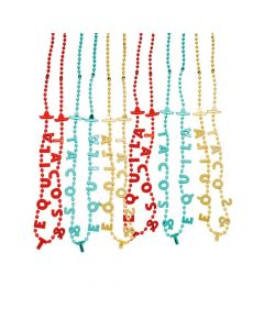 Fiesta Tacos and Tequila Beaded Necklaces