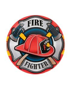 Firefighter Party Paper Dinner Plates