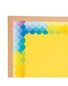 Fish Scale Rainbow Scalloped Bulletin Board Borders