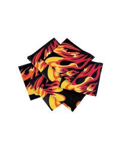 Flame Print Bandanas
