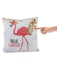 Flamingo Fiesta Reversible Sequin Pillow