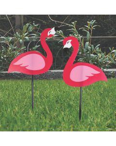 Flamingo Flock Yard Signs Set