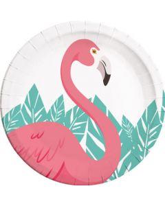 Flamingo Paper Plates