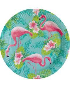 Flamingo Paradise Paper Plates