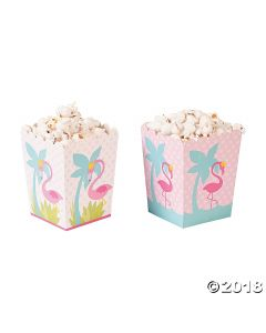 Flamingo Mini Popcorn Boxes